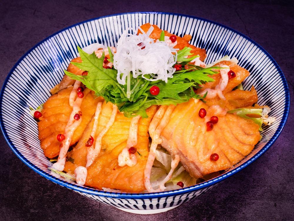 北海道炸鮭魚丼