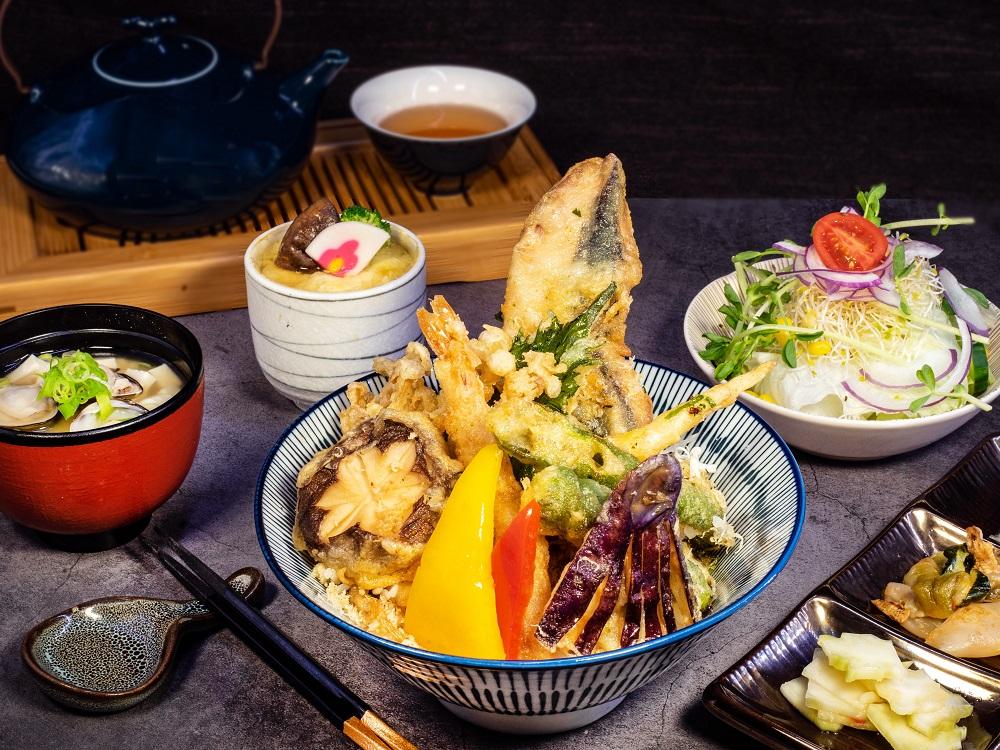 牛奶魚天婦羅丼定食