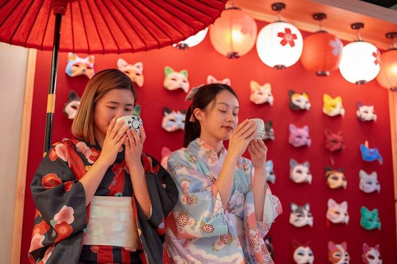 圖6.入住綠舞即可享受日式主題造景庭園美景,讓全家大小都盡興玩樂!